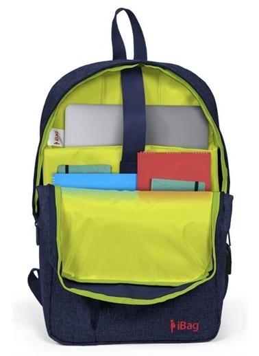 Yaygan İbag 17 Kırçıllı Lacivert Laptop Sırt Çantası Renkli